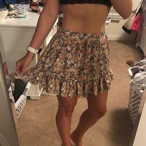 Tobi Floral Mini Skirt